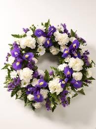 Blue Iris Wreath