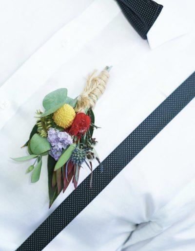 Coloured Native Buttonhole