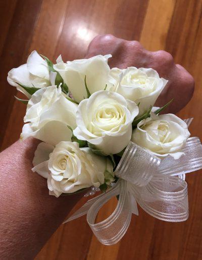 Ivory Spray Rose Wristlet Corsage