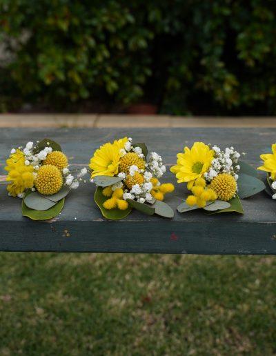 Yellow Daisy Buttonholes